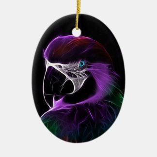 Ornement Ovale En Céramique perroquet #2