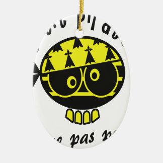 Ornement Ovale En Céramique Petit Pirate Breton