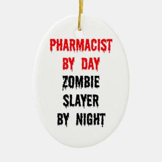 Ornement Ovale En Céramique Pharmacien par le tueur de zombi de jour par nuit