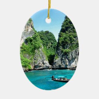Ornement Ovale En Céramique PhiPhiislands_thailand
