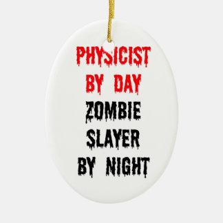 Ornement Ovale En Céramique Physicien par le tueur de zombi de jour par nuit