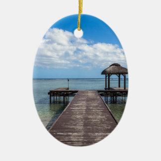 Ornement Ovale En Céramique Pilier dans le flac flic îles Maurice d'en d'océan