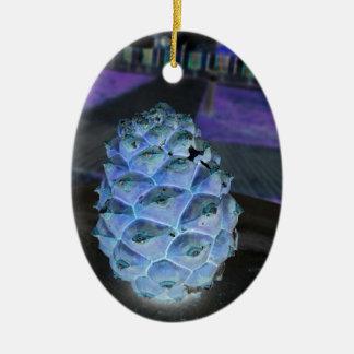 Ornement Ovale En Céramique Pinefruit de Noël