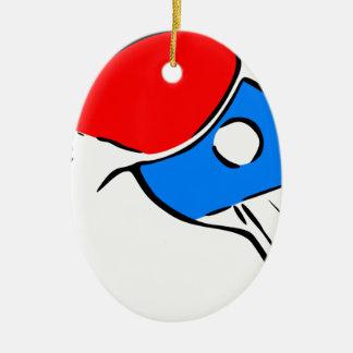 Ornement Ovale En Céramique Ping-pong