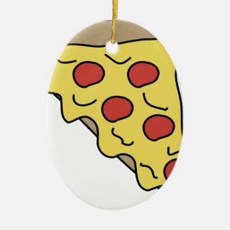 Ornement Ovale En Céramique Pizza d'égoutture