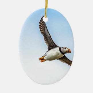 Ornement Ovale En Céramique Plume de mouche de faune de vol de mer d'oiseau de
