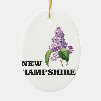 Ornement Ovale En Céramique plus du New Hampshire