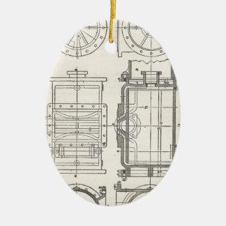 Ornement Ovale En Céramique Pocletbook du mécanicien