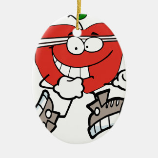Ornement Ovale En Céramique pomme courante
