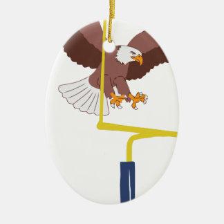 Ornement Ovale En Céramique poteau de but d'aigle