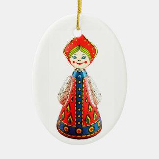 Ornement Ovale En Céramique Poupée russe