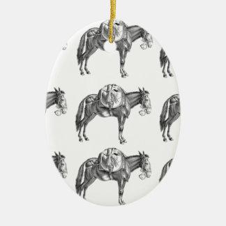 Ornement Ovale En Céramique prière de mule de paquet