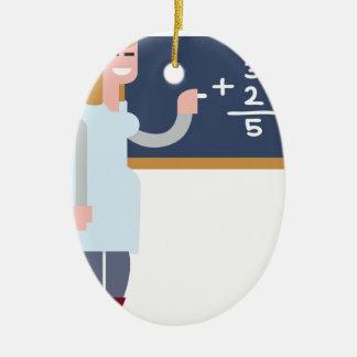 Ornement Ovale En Céramique Professeur de maths