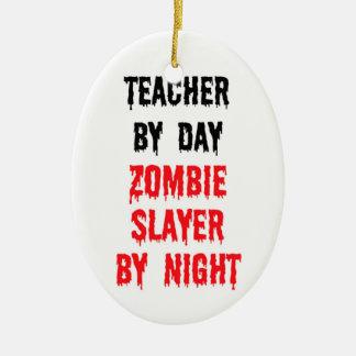 Ornement Ovale En Céramique Professeur par le tueur de zombi de jour par nuit