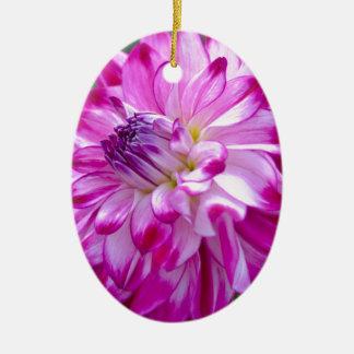 Ornement Ovale En Céramique Prune Flora