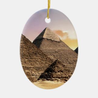 Ornement Ovale En Céramique pyramides