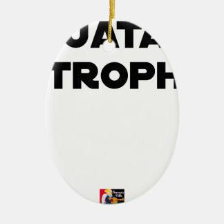 Ornement Ovale En Céramique QUATAR STROPHE - Jeux de mots - Francois Ville