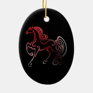 Ornement Ovale En Céramique Queues de cheval