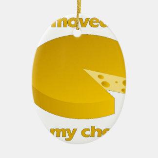 Ornement Ovale En Céramique Qui a déplacé le fromage
