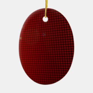 Ornement Ovale En Céramique red halo
