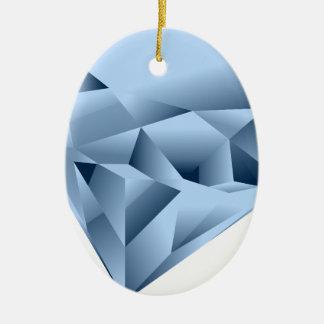 Ornement Ovale En Céramique Ressemble à une gemme