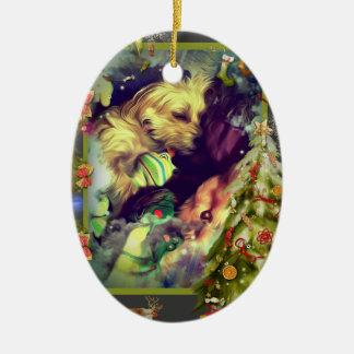 Ornement Ovale En Céramique Rêves d'ornement d'ovale de Toyland de Noël