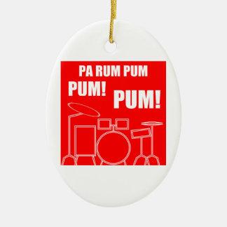 Ornement Ovale En Céramique Rhum Pum Pum Pum de PA