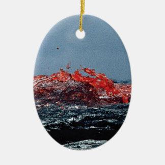 Ornement Ovale En Céramique Rivière de magma