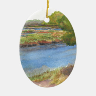 Ornement Ovale En Céramique rivière de squamscott aux newfields le 31 juillet
