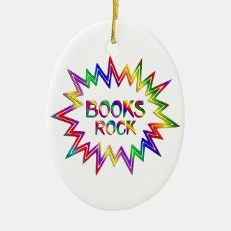 Ornement Ovale En Céramique Roche de livres