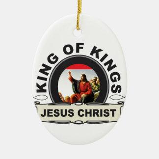 Ornement Ovale En Céramique Roi des rois JC