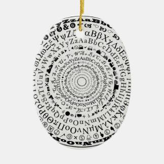 Ornement Ovale En Céramique Roue de Fontastic
