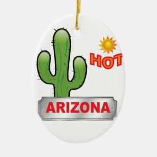 Ornement Ovale En Céramique Rouge chaud de l'Arizona