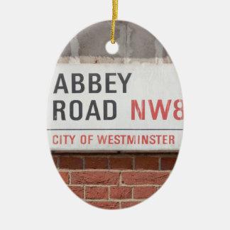 Ornement Ovale En Céramique Route Londres d'abbaye