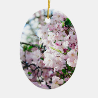 Ornement Ovale En Céramique Sakura