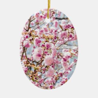 Ornement Ovale En Céramique Sakura Asie