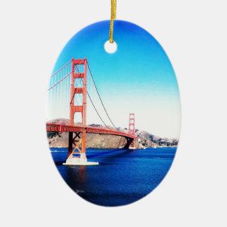 Ornement Ovale En Céramique San Francisco golden gate bridge la Californie