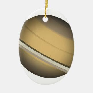 Ornement Ovale En Céramique Saturn
