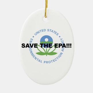 Ornement Ovale En Céramique Sauvez l'EPA
