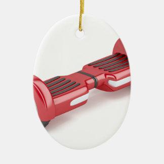 Ornement Ovale En Céramique Scooter de auto-équilibrage rouge