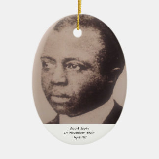 Ornement Ovale En Céramique Scott Joplin