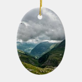 Ornement Ovale En Céramique Sec de vallée de Grossglockner