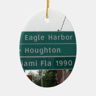 Ornement Ovale En Céramique Signe de Miami
