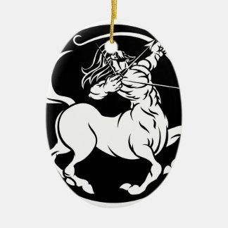 Ornement Ovale En Céramique Signe de zodiaque de Sagittaire de centaure