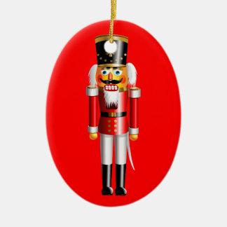 Ornement Ovale En Céramique Soldats de jouet drôles de casse-noix