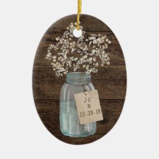 Ornement Ovale En Céramique Souffle en bois de Babys de pot de maçon de