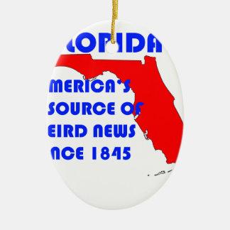 Ornement Ovale En Céramique Source de la Floride #1 pour de nouvelles étranges