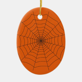 Ornement Ovale En Céramique spider