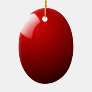 Ornement Ovale En Céramique Sport rouge de Tableau de boule de billard