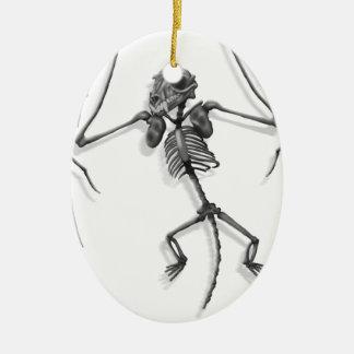 Ornement Ovale En Céramique Squelette de batte
